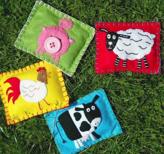 Animal Bean Bags by WithHugsandKisses on Etsy, $24.99-- Cathcab make these no problem