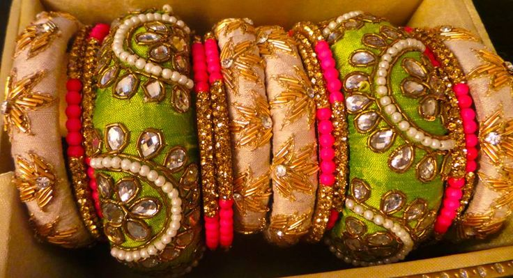 fancy bangles zardosi
