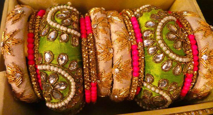 fancy bangles zardosi