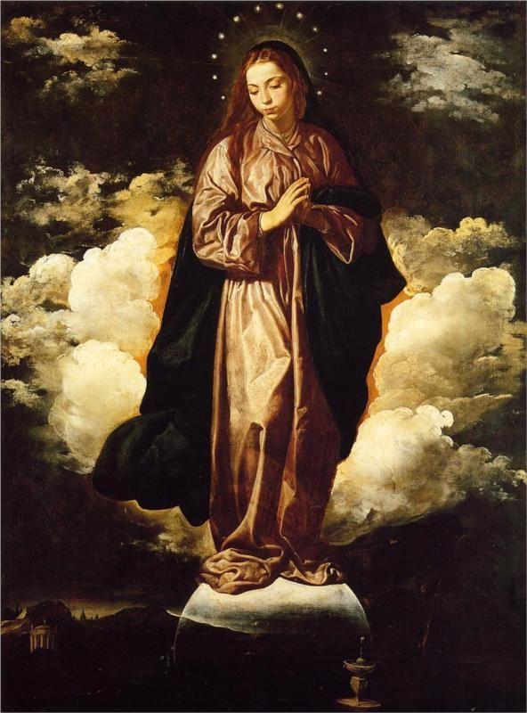 Diego Velázquez (Spanish 1559–1660) [Baroque, Portrait] The Immaculate Conception, 1619.