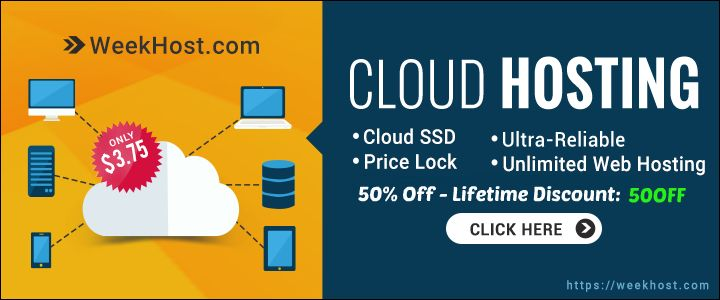 Exclusive 50% Off - WeekHost Coupon Codes Lifetime Discount