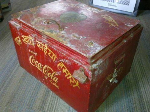 Uniek !! Coca Cola koelbox , coolbox , cooler 50'r jaren