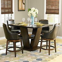 Charming Homelegance Bayshore Counter Height Dining Table   Oak   X X In.