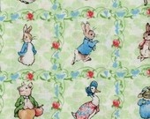 Beatrix Potter Fabric Peter Rabbit Victorian Nursery ABC Alphabet Toss. $18.99, via Etsy.