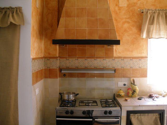 Construcciones rudi cocina rustica de casa de campo - Chimeneas rusticas de ladrillo ...