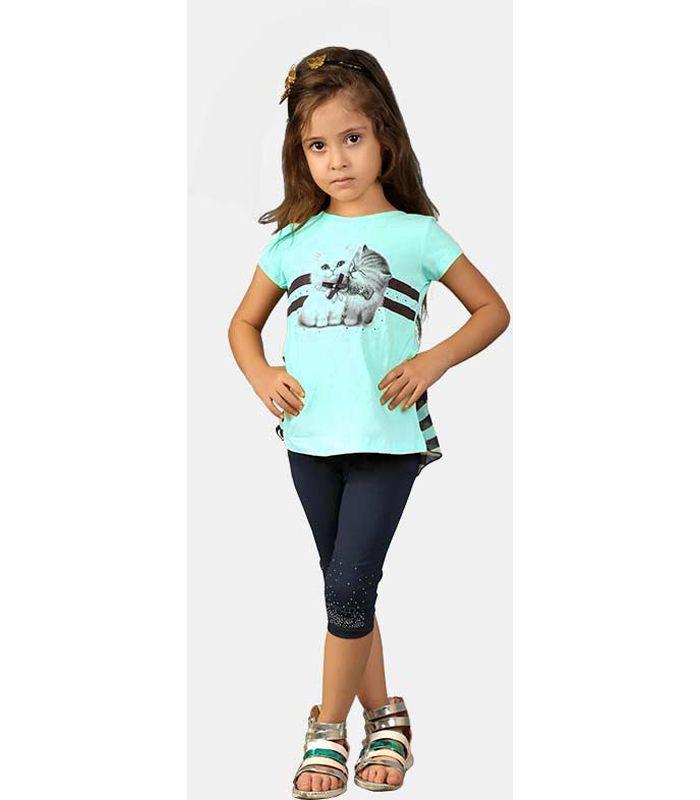 تیشرت گربه ای و شلوار سنگدوزی دخترانه  ترک شامل یک تی شرت سنگدوزی شده طرح گربه و شلوار سرمه ای سنگدوزی شده است تیشرت 97 درصد پنبه و 3 درصد لاکرا شلوار 97 درصد پنبه و 3 درصد لاکرا در سایز های 2 تا 5 ساله می باشد.  #تیشرت #شلوار #سنگدوزی