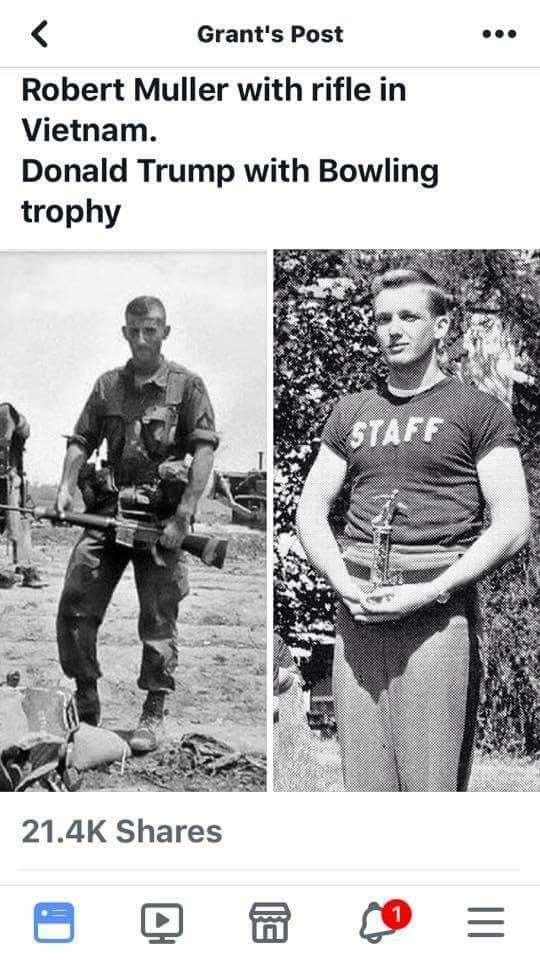 Apparently the bone spurs in his foot prevented him from going to Vietnam but not from going bowling!