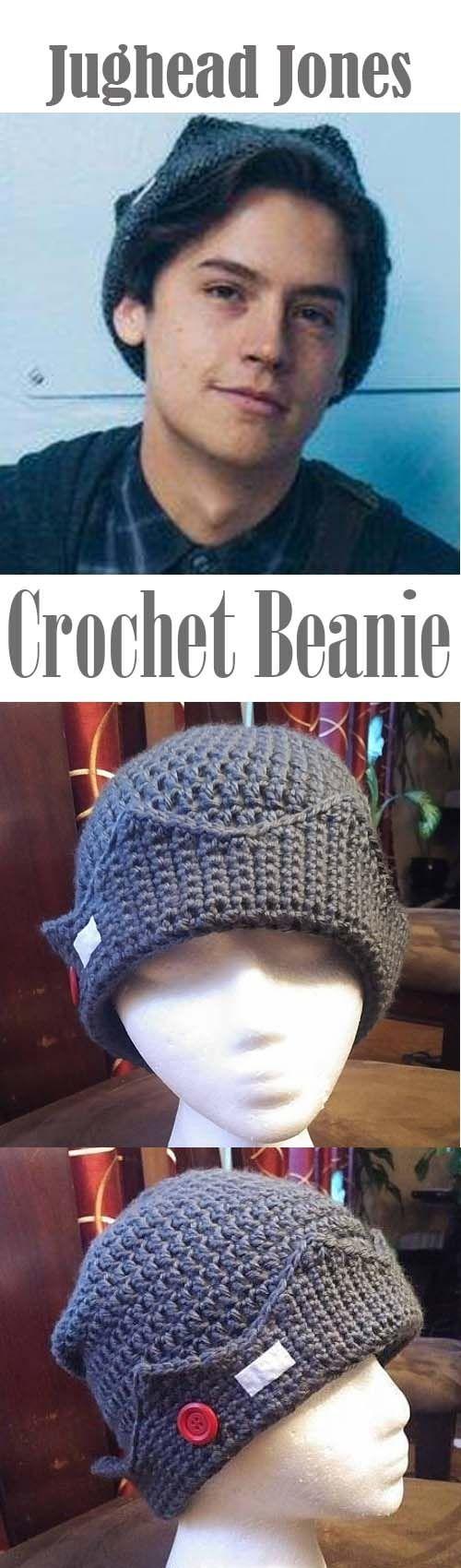 Jughead inspired beanie/Riverdale hat/Jughead Jones cap/unisex hat/teen hat/crown hat/grey cap/winter toque/crochet cap/tvshow inspire #affiliate