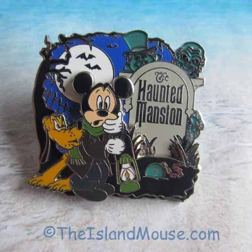 Disney Mickey Caretaker HitchHiking Ghost Haunted Mansion Pin (UD:95956) #OfficialDisneyProduct