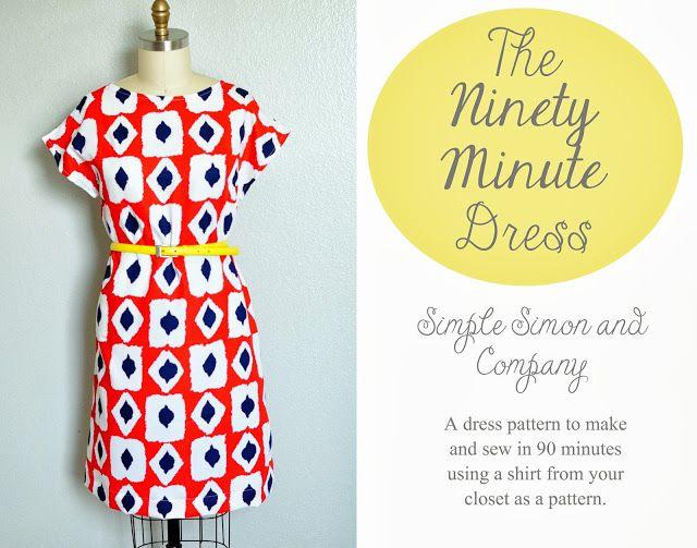 The 90 Minute Dress Tutorial - Simple Simon and Company, Kimono Tee Dress - nach eigenem Shirt