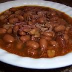 Crockpot Ham Hocks and Beans - Very tasty. Would be good with italian sausage as well, or over rice.