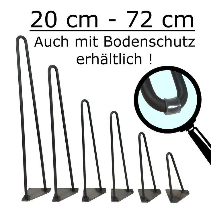 Hairpin Legs Haarnadelbeine Tischbeine Tischkufen Esstisch Hairpinlegs Stahl DIY in Möbel & Wohnen, Möbel, Zubehör   eBay!