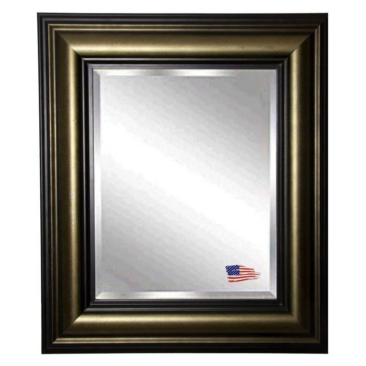 rayne mirrors stepped antiqued silverblack wall mirror r007ml2