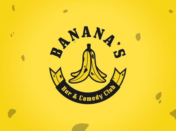Banana's Bar & Comedy Bar, Branding on Behance