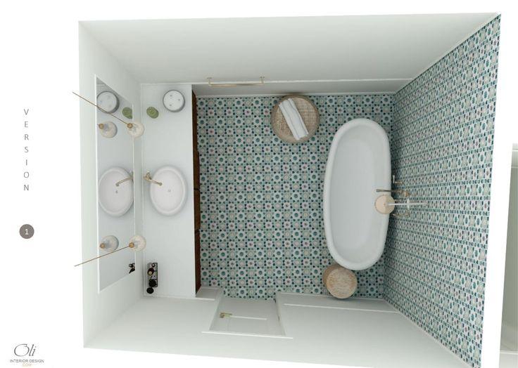 #Bathroom 3D E-Design (Visualisation) by Oli Interior Design Studio #vintage   #edesign