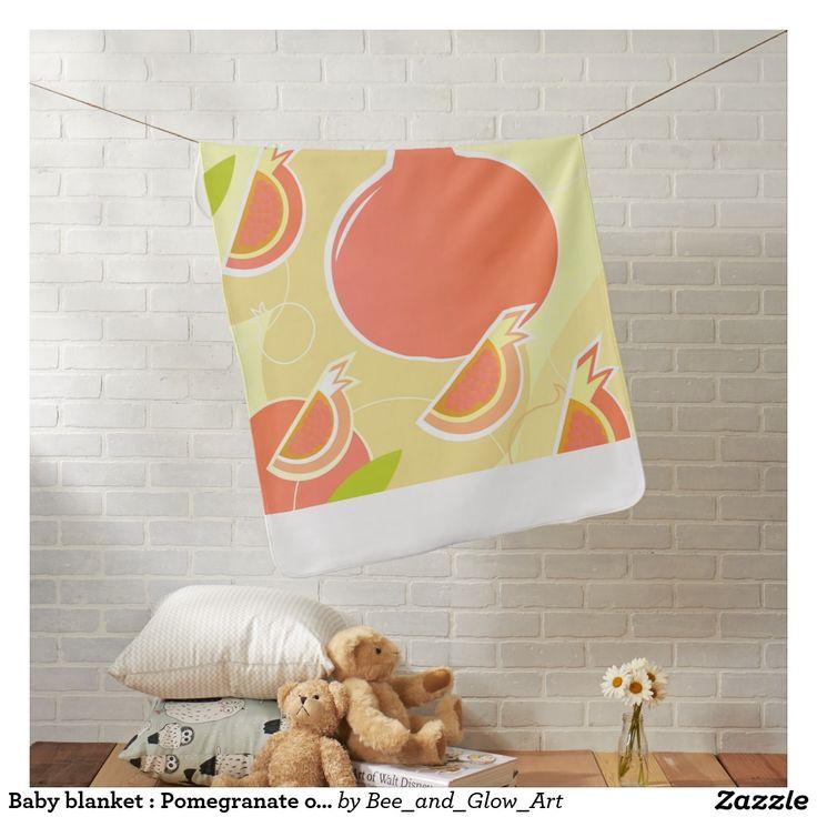 Baby blanket : Pomegranate orange