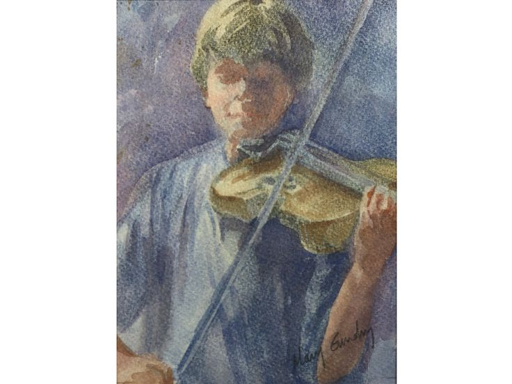 'Rehearsals' by Mary Gundry. Original signed & framed watercolour.