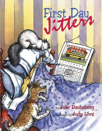 First Day Jitters (Mrs. Hartwells classroom adventures) by Julie Danneberg http://www.amazon.com/dp/158089061X/ref=cm_sw_r_pi_dp_8XyLvb1T1S56D