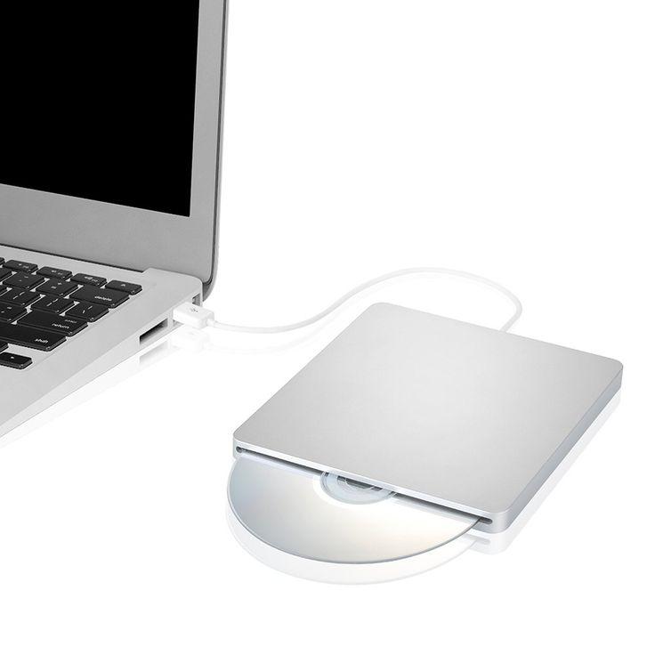 [Upgraded Version  1 Year Warranty] VicTsing Ultra Slim USB External Slot CD-RW DVD-RW Super Drive Player Writer Burner for Apple Mac Book Air Pro iMAC
