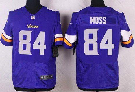 b19f250e4 coupon code mens minnesota vikings 84 randy moss purple team color nfl nike  elite jersey a24a6