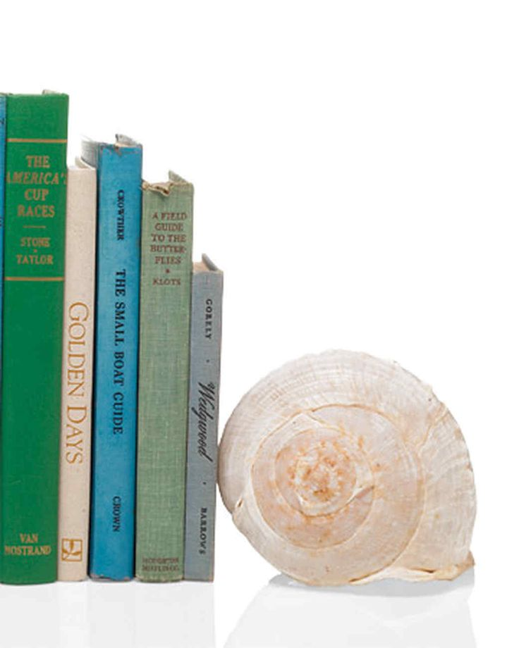 Bring a touch of the tropics to your reading room with bookends made from seashells.