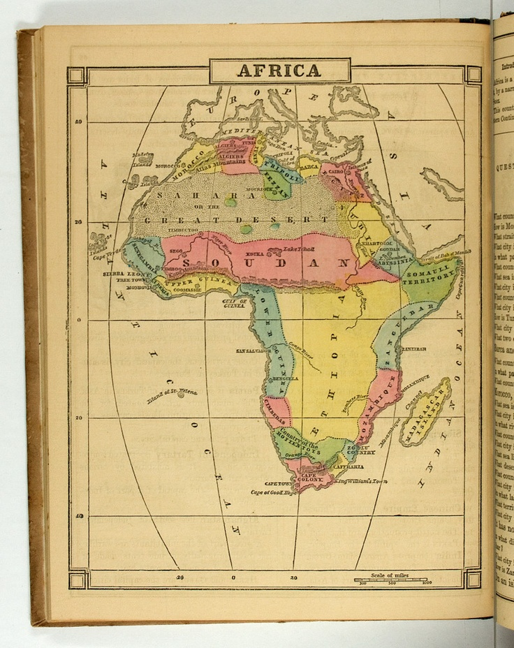 Map of Africa included on page 64
