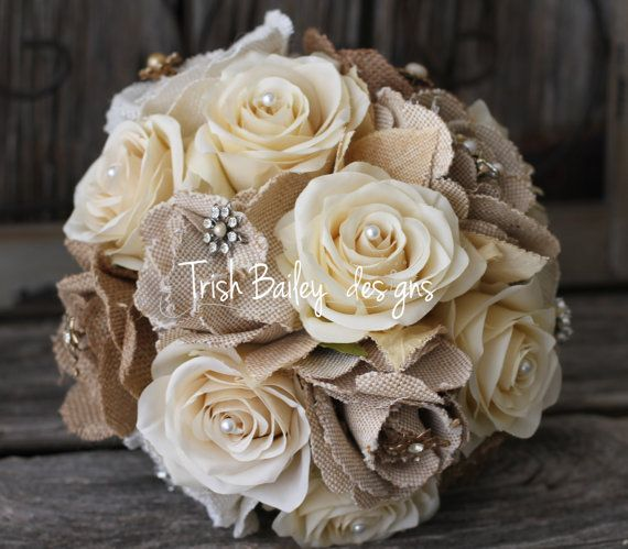 Les 25 meilleures id es concernant bouquets de mariage en toile de jute sur pinterest bouquets - Toile de jute castorama ...