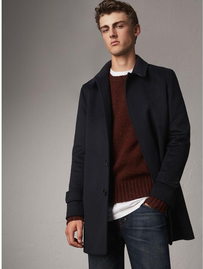 Burberry Wool Cashmere Car Coat.