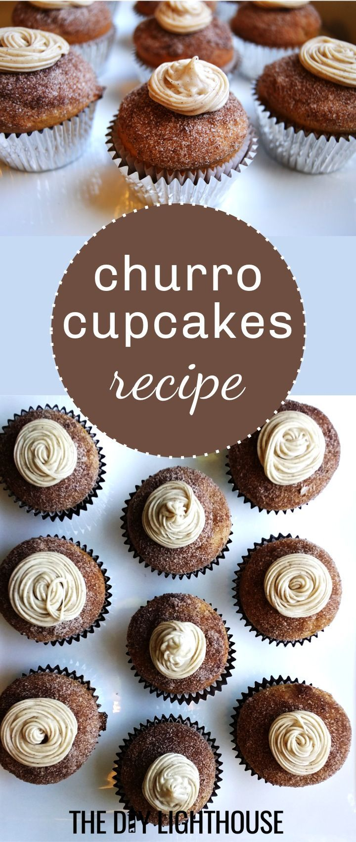 Churro Cupcakes recipe and directions for a fun Cinco de Mayo dessert idea. Party food inspiration or treat for the kids. Easy and quick DIY cupcake idea you'll love!
