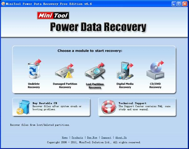 Use free picture recovery program to recover lost pictures from lost partition.