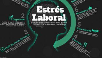 Cómo combatir el estrés laboral #infografia #infographic #rrhh #health