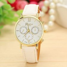 Quartz Luxury Women Girls Vintage Dial Leather Band Wrist Casual Vogue Watch