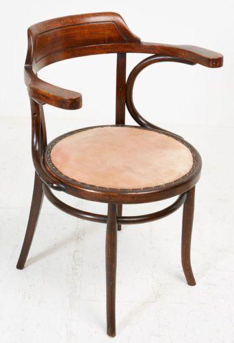 art deco thonet bentwood armchair elbow office chair furniture original