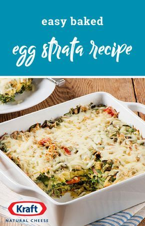 Easy Baked Egg Strata Recipe – Look no further for an easy-to-make egg casserole recipe! This cheesy, tasty creation features red peppers, spinach, stuffing, and mozzarella cheese and is sure to be a hit on your brunch table.