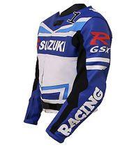 Mens Suzuki GSXR Motorcycle Leather Jacket Sports Motorbike Leather Racing