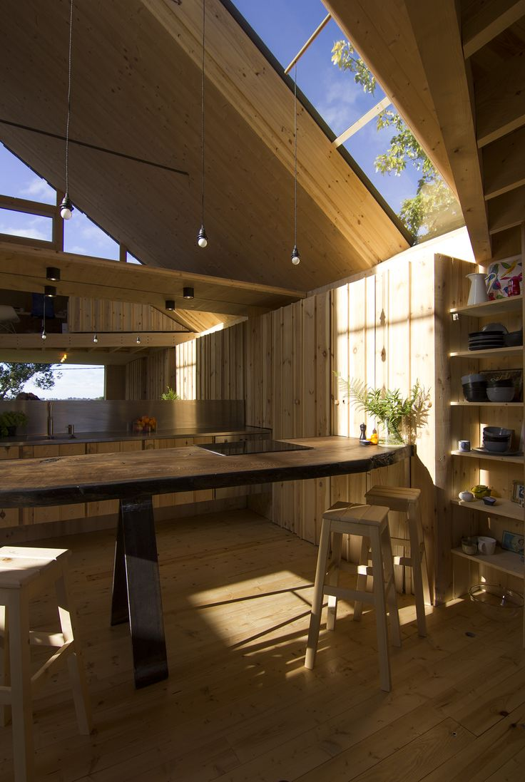 Cross laminated timber house designed and constructed by Gregory Kewish autumn 2014. blacktree.uk.com