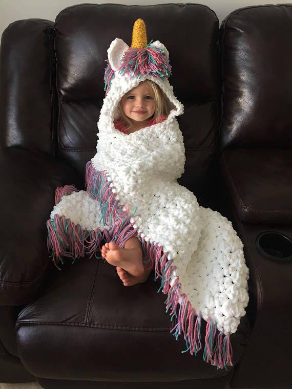 Cobertor de unicórnio, cobertor de unicórnio de crochê, cobertor de unicórnio com capuz, unicórnio, cobertor de crochê, adulto de cobertor de unicórnio, velo, bebê, bebês