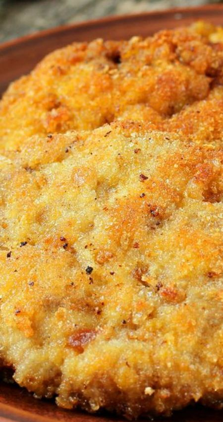 Easy Baked Pork Chops with Buttery Cracker Crust Recipe ~ with Ritz Crackers and Garlic