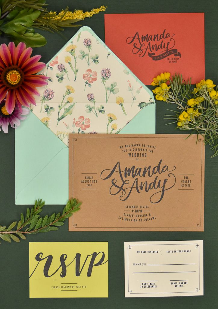 Wildflower Invitations By Staples Paper Co Custom Designed Wedding Invitations Wildflower Invitation Papers Co