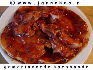 recept voor gemarineerde karbonade