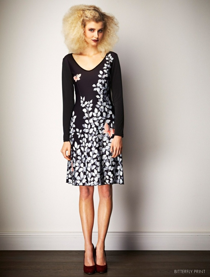 Leona Edmiston butterflies dress. Oh this dress is so so cute! Love the easy fit and A-line skirt.
