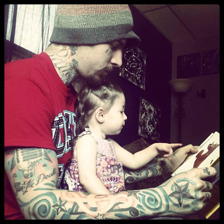 Tattooed Dad & Daughter