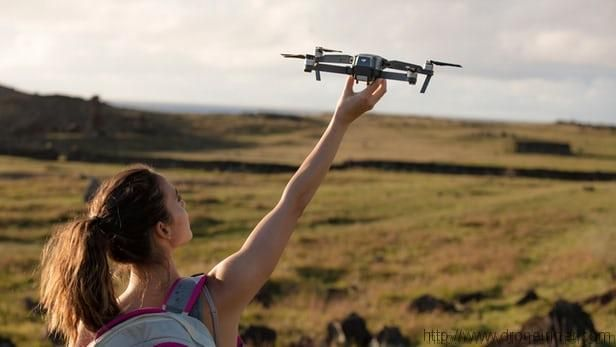 In which case do you hand launch/catch the DJI Mavic Pro?