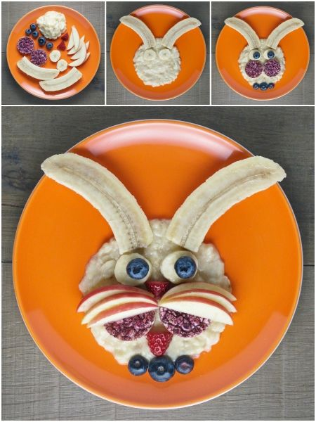 Organix fun, healthy and easy Food Art Plates for kids - fun rabbit plate with full instructions