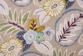 Richloom Lando Printed Cotton Drapery Fabric in Beach $4.95 per yard