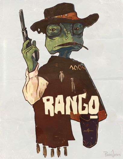 Rango Movie Poster by ParisTaylorJones on Etsy, £10.00