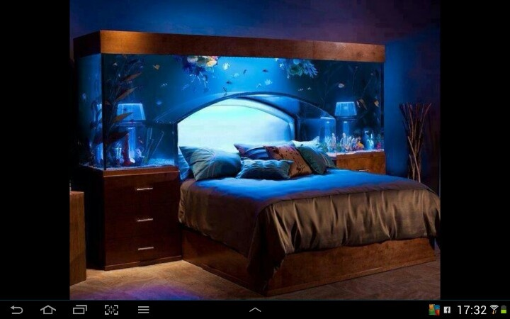 30 best amazing fish tanks images on pinterest fish for Fish tank bedroom ideas