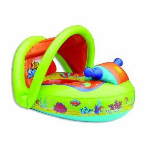 Here Is Another Canopy Pool Float For Babies And Toddlers To Use With Adult Supervision In