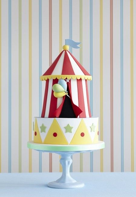 Exopensive Circus Tent Birthday Cake by Zoe Clark