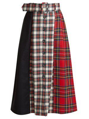 7863a4c725 Panelled tartan wool skirt | Isa Arfen | MATCHESFASHION.COM UK ...
